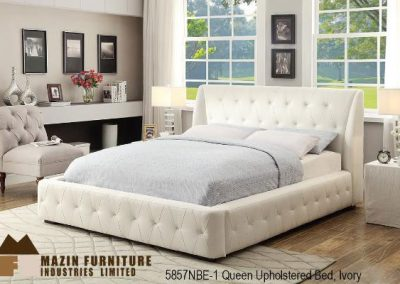 5857NBE uph.bed_ivory mazin