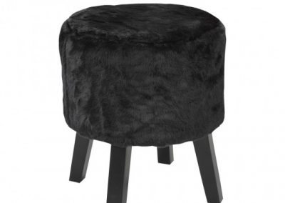 3643-BK FOOT STOOL BLACK brassex