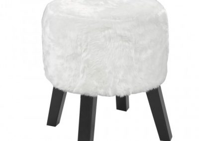 3643-WH FOOT STOOL WHITE brassex