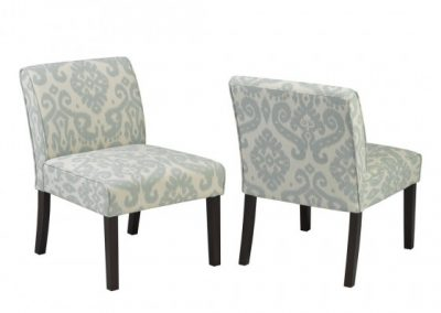 5663-BL ACCENT CHAIR BLUE brassex