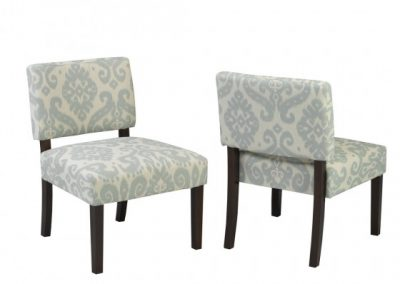 5667-BL ACCENT CHAIR BLUE brassex