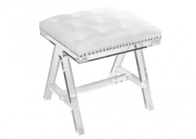 9202-CR ACRYLIC OTTOMAN CREAM brassex