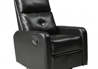 JF657-ESP RECLINER W. ROCKER AND SWIVEL ESPRESSO brassex