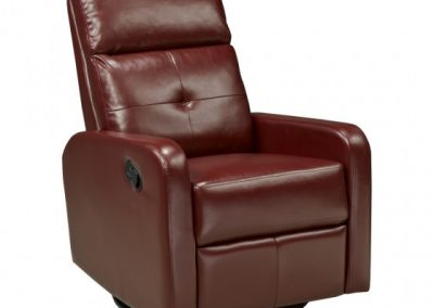 JF657-RD RECLINER W. ROCKER AND SWIVEL RED brassex