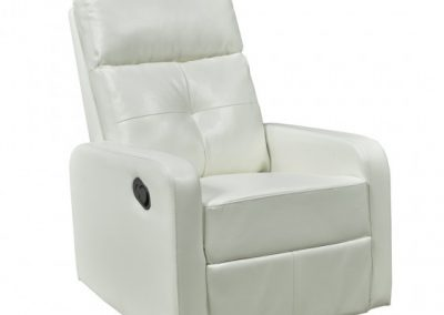 JF657-WH RECLINER W. ROCKER AND SWIVEL WHITE  brassex