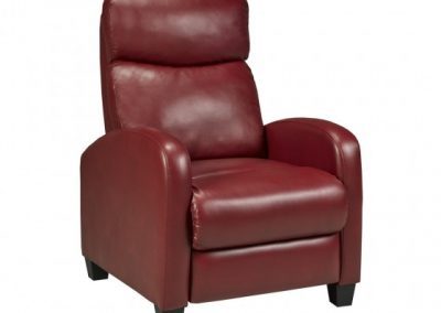 SOHO RECLINER RED brassex