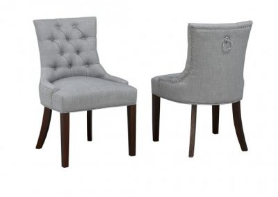 WS5699-GR ACCENT CHAIR GREY brassex