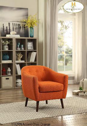 1192RN accent chair orange mazin