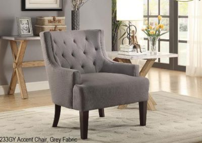 1233GY accent chair grey mazin