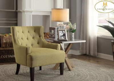 1233MD accent chair mustard mazin