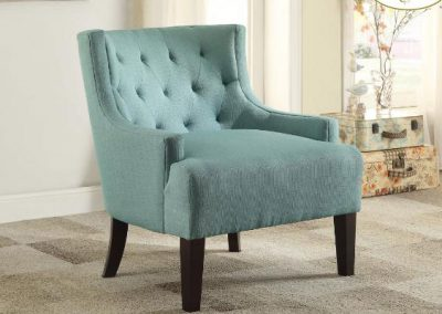 1233TL accent chair teal mazin