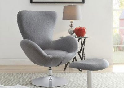 1267GY accent chair & otto mazin