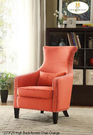 1270F2S accent chair orange mazin
