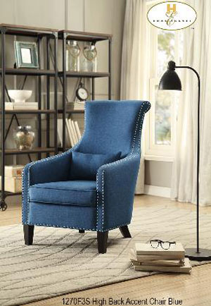 1270F3S accent chair blue mazin