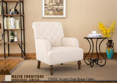 1280BE accent chair beige mazin