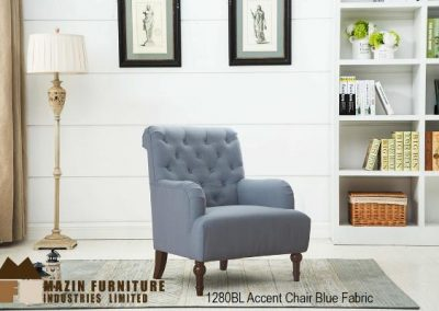 1280BL accent chair blue mazin