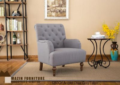 1280GY accent chair grey mazin