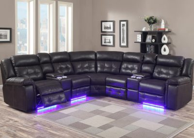 GL 6556 POWER SSECTIONAL CHOCOLATE